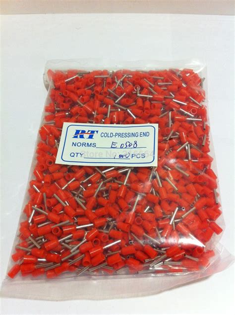 Wire Ferrule Ferrules 100pcs E0508 Single Wire 0 5mm2 22 Awg ᐊreal terminales e0508 insulated cable ᗛ cord cord end