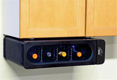 under cabinet wine cooler space saving under cabinet wine cooler sharper image