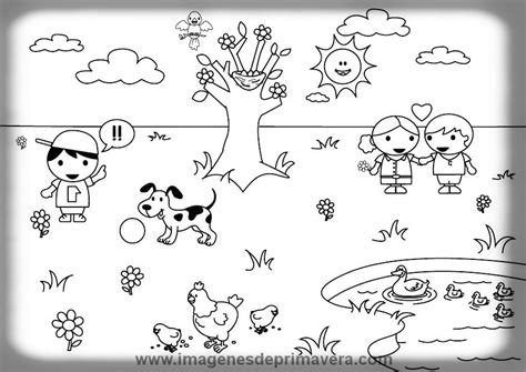 imagenes para colorear primavera dibujos para colorear de la primavera para ni 241 os