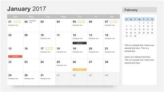 Calendar Template 2018 Powerpoint Free Calendar 2017 Template For Powerpoint