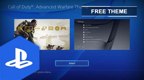 ps4 themes download uk ps4 us uk call of duty 174 advanced warfare static theme