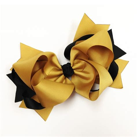 and gold bows black gold ribbon black gold