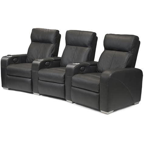 cinema armchair premiere home cinema seating 3 seater black cinema