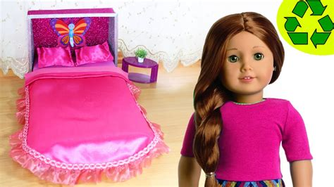 how to make an american girl doll bed how to make an american girl doll bed and bedding no sew doll crafts