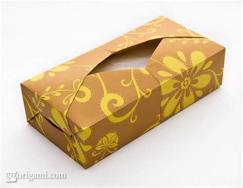 Origami Tissue Box - origami tissue box by paul ee single sheet origami go
