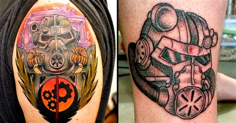 brotherhood of steel tattoo throw on your power armor with these brotherhood of steel