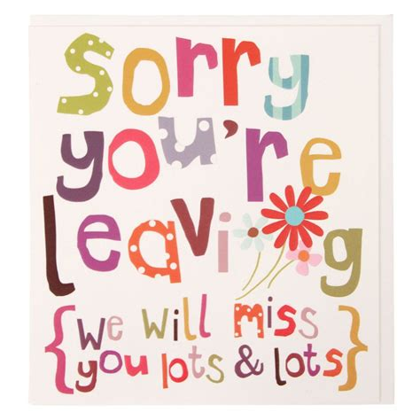 printable leaving card we will miss you lots large leaving card