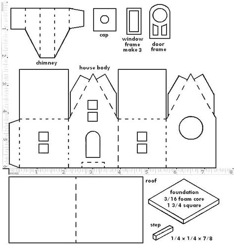 printable christmas village template 17 best images about paper house on pinterest cardboard