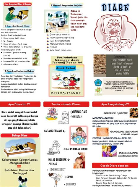 cara membuat oralit pada balita leaflet diare pada anak