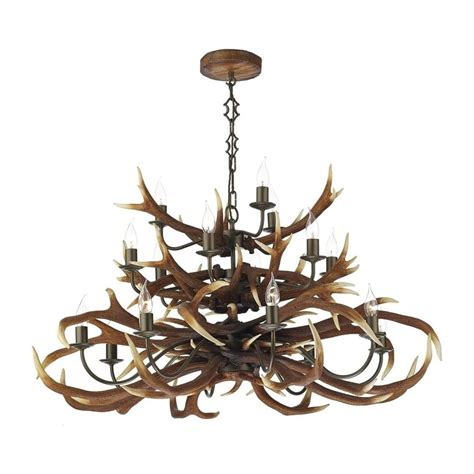 hanging deer lights dar lighting ant1729 antler decorative 17 light tiered
