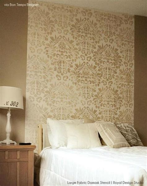 headboard stencils for walls 6 diy stenciled headboard ideas royal design studio stencils