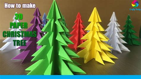 How To Make A 3d With Paper - 3d paper tree how to make a 3d paper tree