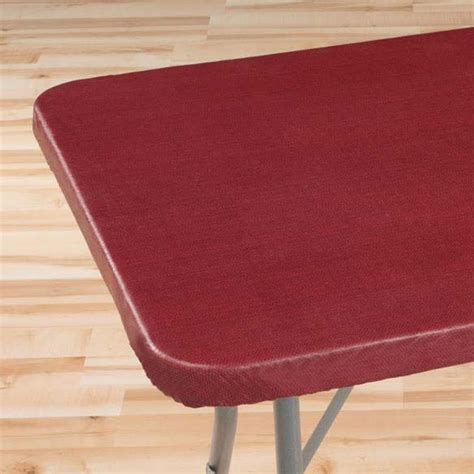 classic weave elasticized banquet table cover kimball
