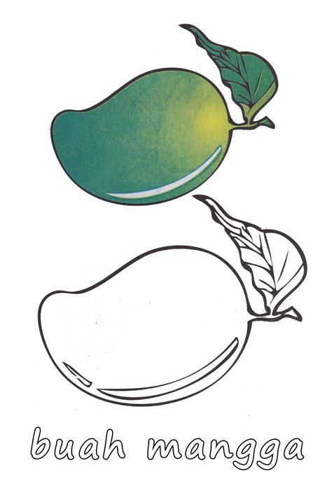 Untuk Anak Anak gambar mewarnai buah apel dan mangga untuk anak paud dan tk