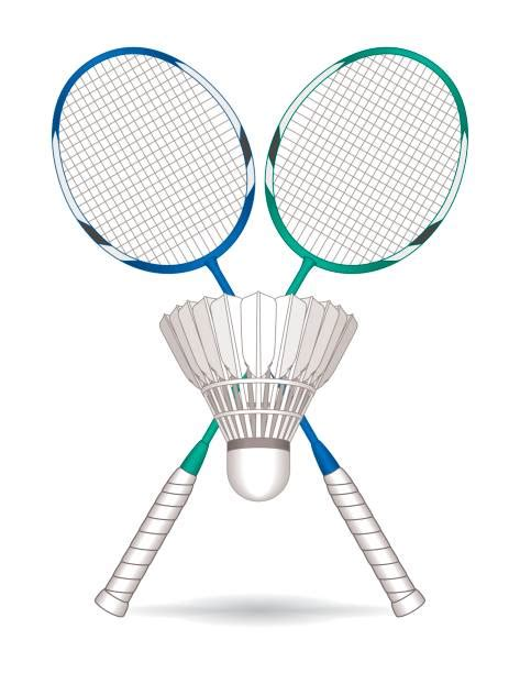 clipart badminton royalty free badminton racket clip vector images