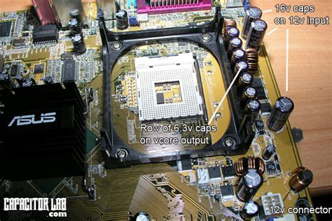 capacitor on laptop motherboard capacitor lab basic capacitor use in motherboard applications