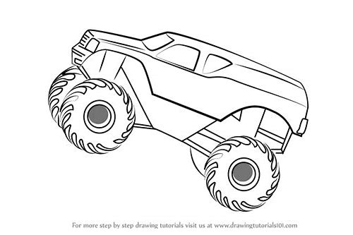 how to draw monster trucks in 3d