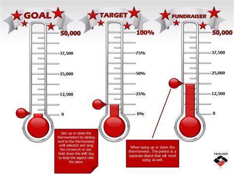 Reaching Your Goal A Powerpoint Template From Presentermedia Com Fundraising Ppt Templates