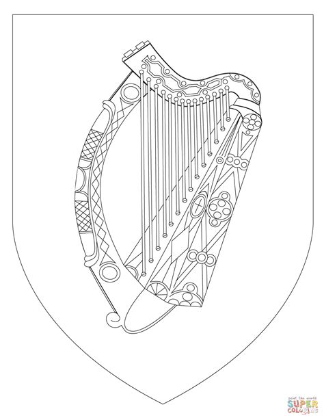 flag of ireland picture az coloring pages