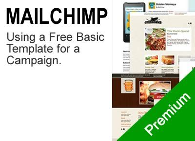 using a basic mailchimp email template clickcademy
