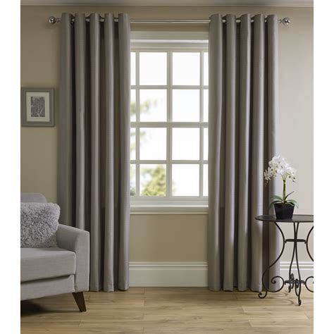 bedroom curtain poles wilko waffle weave eyelet lined curtains silver 167x137cm