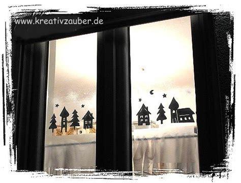 Fensterdeko Weihnachten Stadt by Fensterdeko Im Winter Anleitung Und Vorlage