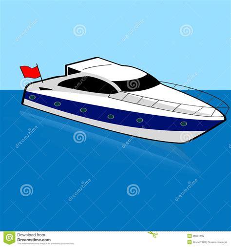 cartoon fast boat speed boat stock photo image 36981190