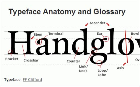 typography resources useful typography resources typeface anatomy and glossary