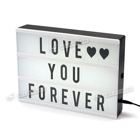 message board light up a4 magic glow cinematic cinema light up letter box sign