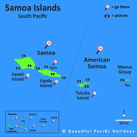 map of american samoa islands samoa island map map of the islands showing hotel
