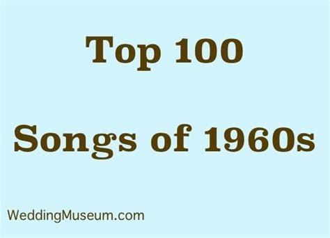 100 Best 1960s Music for Weddings   60s Songs   50th