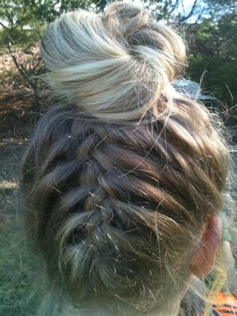 french braid bun on empire 102 best images about hair on pinterest blue tips dip