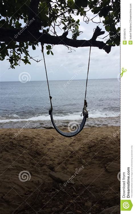 rock swings tire swing and oceanside views stock photo image 53199474