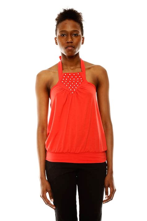 Banded Waist jwdesigns banded waist halter top from branford by