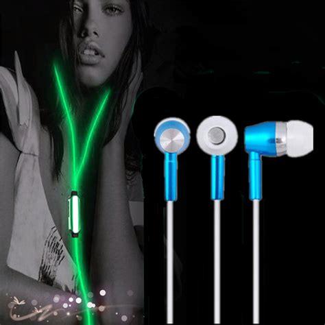 Earphone Xiaomi Mic Colour glow in the earphones metal in ear earpiece luminous earphone with microphone free