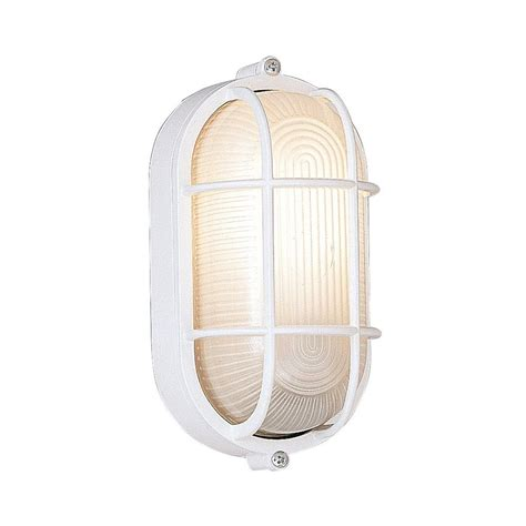 Marine Style Outdoor Lighting Shop Designer S Marine Style Lanterns 8 5 In H White Outdoor Wall Light At Lowes