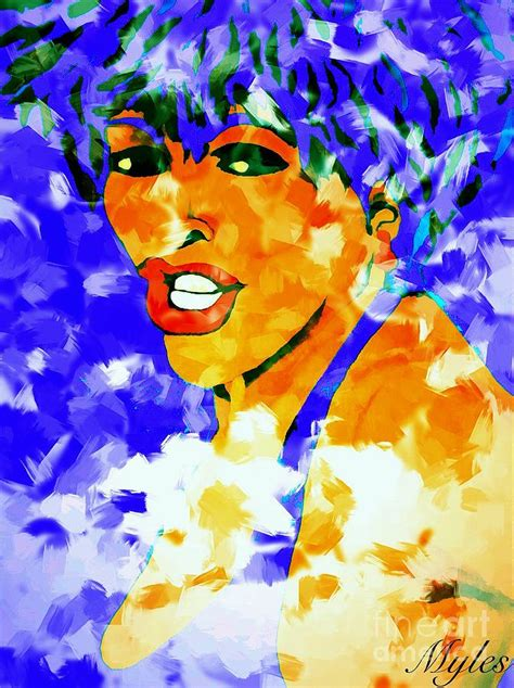 tina turner soft and free painting by saundra myles