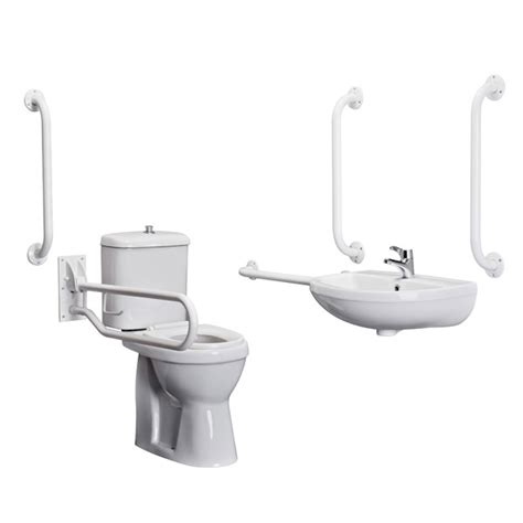 disabled bathroom grab rails premier doc m pack disabled bathroom toilet basin and