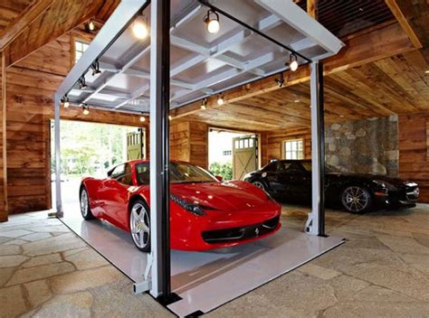 Elevator Garage by Luxury Home Garage With Car Elevator In Connecticut