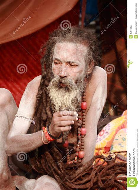 naga sadhuholy men  india editorial photography image