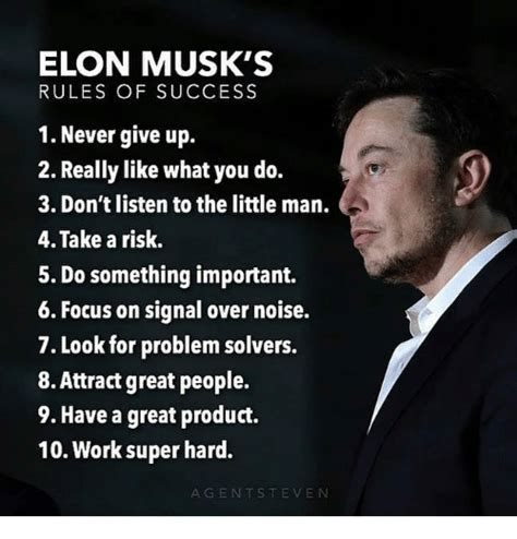 elon musks rules  success   give