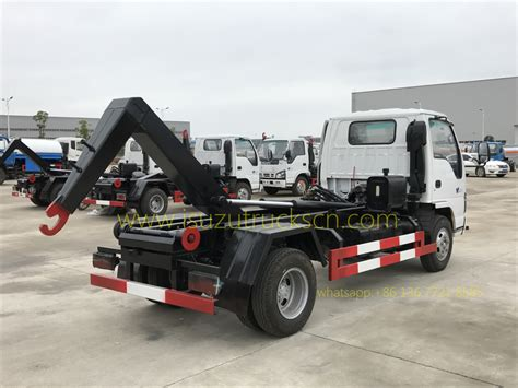 Arm Roll Hook Lift Truck selling 5cbm m3 isuzu garbage truck hook lift truck