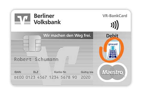 vr bank card maestro kartensymbole