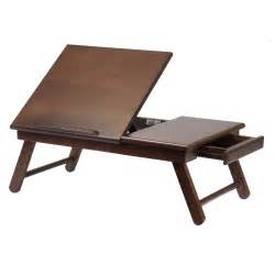 Laptop Desk With Storage Wood Desk Table Storage Drawer Foldable Legs Portable Laptop Stand Food Tray Ebay