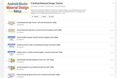 material design tutorial video tag material design heramb apps mobile app