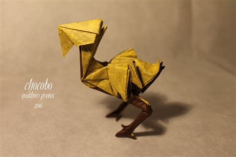 Origami Chocobo - 23 more excellent origami models from