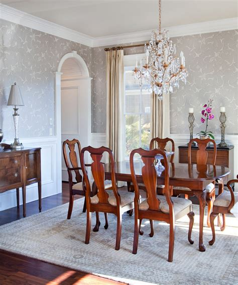 chandeliers for dining room traditional classy traditional seating for chic dining room with small