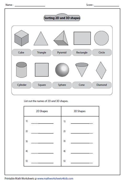 Solid Shapes Worksheets by Solid 3d Shapes Worksheets