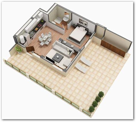 planos 3d plano de monoambiente casas arq planos