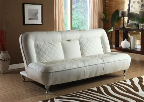 classic car seat inspired futon sofa convertible white